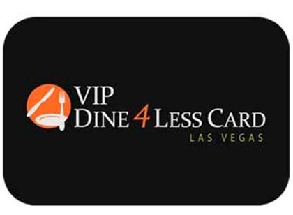 Cartão VIP Dine 4Less em Las Vegas