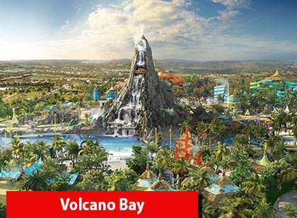 UNIVERSAL - 03 Park Explorer Ticket com Volcano Bay (Ingresso eletrônico de 14 dias)